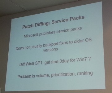 Diffing Service Packs
