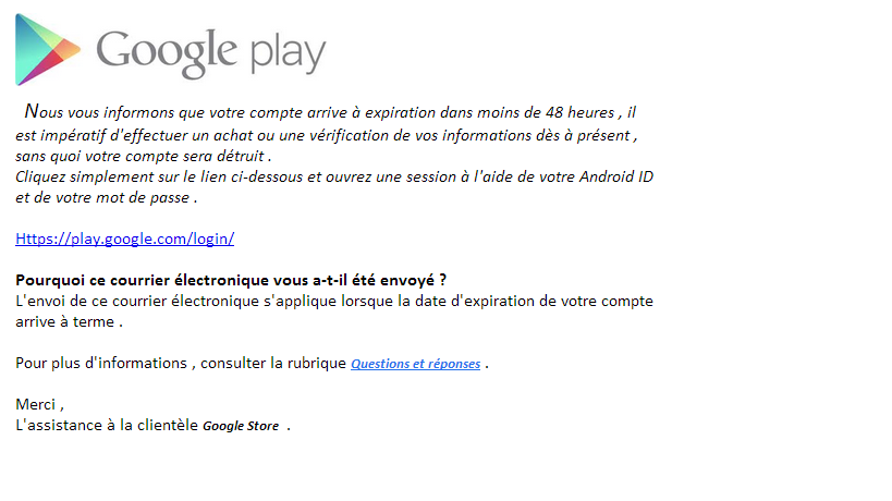 Phishing Google Play